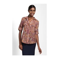 Liam Paisley Button-Down Shirt found on Polyvore