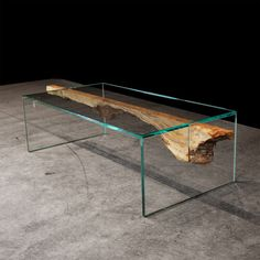 Spalted Maple Glass Fold Table design by John Houshmand