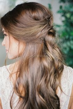half+up+half+down+wedding+hairstyles+-+half+up+wedding+hairstyle                                                                                                                                                                                 More