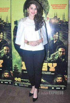 Taapsee Pannu watches 'Baby'. #Bollywood #Fashion #Style #Beauty