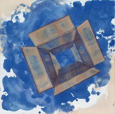 """""""Exit"""" 2012, olio e pigmenti su tela, cm 50 x 50"""