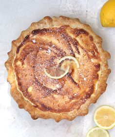 Adapted from a recipe in a vintage New England community cookbook, this delicate, sweet-tart pie is a modern update on a classic form. During baking, the fruit and custard fillings separate to form three layers: spiced apricots, lemon pudding, and a delicate, spongy top. In other words: heaven.