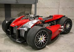 Engine by Ferrari, handlebars by BMW: The world's most expensive quad bike goes on sale for a cool $1,000,000