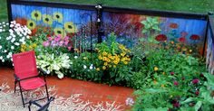Best Painted Fence Ever! - I Revived Our Old Garden Fence By Painting Vivid Flowers On It | Bored Panda
