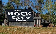 Rock City Barn Art . I love these old barns !