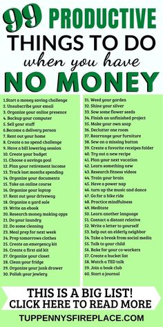 99 super productive things to do (without spending any money), There's no shame in being bored. Whenever you find yourself with not so much to do — or not so , Money Tips, Money Saving Tips, Things To Do When Bored, Things To Collect, Bored Jar, Finance, Productive Things To Do, Budget Planer, Money Saving Challenge