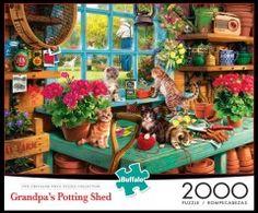 Grandpa's Potting Shed - 2000 Piece Jigsaw Puzzle