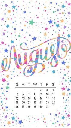 Beautiful August 2018 iPhone Calendar Wallpapers Calendar Themes, Calendar Quotes, Printable Blank Calendar, Print Calendar, Kids Calendar, Calendar Design, Calendar 2018, August Wallpaper, Calendar Wallpaper
