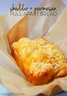 Cheddar & Parmesan Pull Apart Bread Recipe | Take canned biscuits to a whole new level with this savory Pull Apart Bread. It's so delicious no one will ever know you took a shortcut!