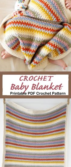 Looking for new crochet baby blanket patterns to try? There are lots of different crochet blanket patterns to try, perfect for a boy or girl. Easy Knit Baby Blanket, Baby Afghan Crochet, Knitted Baby Blankets, Quick Crochet, Crochet Blanket Patterns, Afghan Patterns, Baby Patterns, Baby Knitting, Crochet Flowers