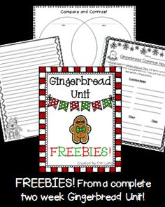 Gingerbread Freebies! Reading, grammar and writing pages included for second grade!