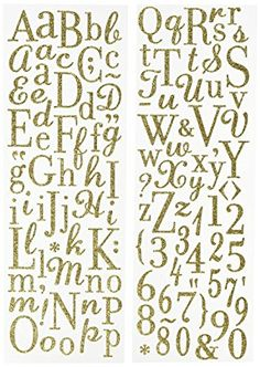 K&Company Gold Die-Cut Glitter Alphabet Stickers Review