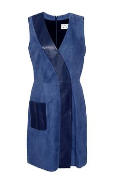 M'o Exclusive Suede Patchwork Lexi Dress by TANYA TAYLOR for Preorder on Moda Operandi