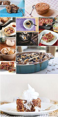 10 wonderful baked oatmeal recipes #breakfast #bakedoatmeal #oatmeal