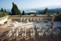#Weddings at Belmond Grand Hotel Timeo in #Sicily with breathtaking views over the Bay of #Taormina and Mount Etna.