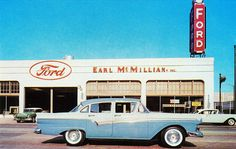 1957 Ford Custom 300 Fordor Sedan by aldenjewell Vintage Cars, Antique Cars, Vintage Signs, Vintage Photos, Car Places, New Car Smell, Ford Classic Cars, Ford Fairlane, Galaxies