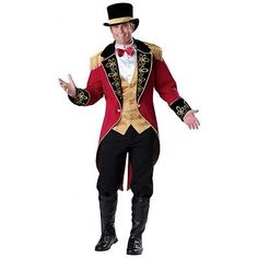 Ringmaster Costume Adult Circus Lion Tamer Halloween Fancy Dress