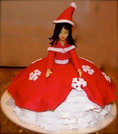 Poupée en chocolat et gâteau sous la robe de LUDICAKES