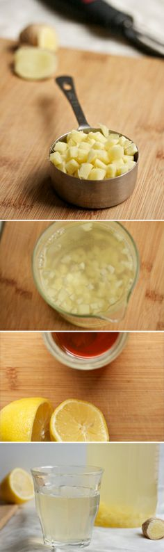 Fresh Ginger Tea with Lemon & Honey | www.biggirlssmallkitchen.com