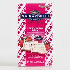 World Market Ghirardelli Strawberry Bark Chocolate Squares I Love Chocolate, White Chocolate, Candy Recipes, Snack Recipes, Ghirardelli Chocolate Squares, Junk Food Snacks, Bark Recipe, Chicken Meal Prep, Diet Coke