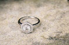 hexagon engagement ring | the lane