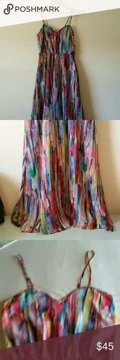 """Jack by BB Dakota Rayna Maxi Dress size 4 Measures approximately 16"""" from pit to pit, 14"""" flat across elastic waist, 51"""" long from top of cup to bottom hem. Jack by BB Dakota Dresses Maxi"""
