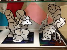 Dubuffet sculptures from the blog: WHAT'S HAPPENING IN THE ART ROOM??