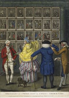 Carington Bowles: Spectators at a print shop in St Paul's churchyard. London, 1774.