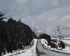 Post Storm Road, Original Spring Landscape Painting, 8 x 10 Inches, Stooshinoff
