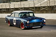 The 1955 Chevy of Al Accipiter is no run-of-the-mill Tri-Five. It has some handling help with a stock car chassis driven by Bobby Allison.