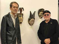 Omar Ronda e Bruno Albertino alla Mostra Arte Africana al Macist di Biella.