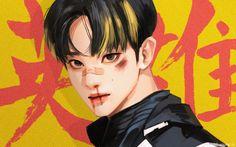 Bts Anime, Anime Guys, Mark Lee, Kpop Drawings, Cute Drawings, Anime Angel, Pretty Art, Cute Art, K Pop
