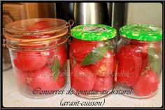 Conserves de tomates entières Rapide, idéale avec de belles tomates charnues. Une recette qui peut encore servir, les tomates à sa...