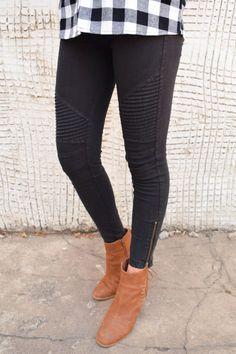 Black Moto Pants