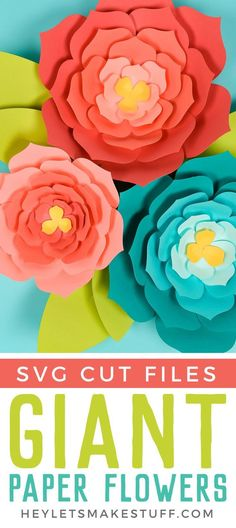 Make these giant paper flowers using my template (hand cut or SVG for the Cricut) and then get my best tips and tricks for making them easily! Perfect for giant paper flower backdrops, beautiful home decor, and festive party decorations. - Crafts To Love Big Paper Flowers, How To Make Paper Flowers, Paper Flower Wall, Giant Paper Flowers, Diy Flowers, Paper Flower Making, Paper Flowers For Wedding, Diy Paper Flower Backdrop, Paper Butterflies