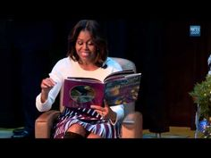 "First Lady Michelle Obama is joind by First Dogs Bo & Sunny as she reads ""Twas the Night Before Christmas"" At Children's National Medial Center. White House Obama, Twas The Night, Political Events, The Night Before Christmas, Michelle Obama, New Media, Conservative Tribune, Change, Reading"