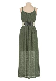 Belted lace Maxi dress - maurices.com