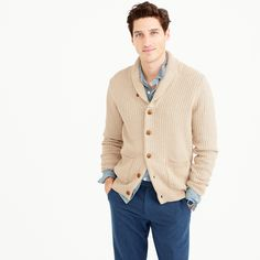 Women's Clothing J.crew Small Beige Shawl Collar Cardigan Bringing More Convenience To The People In Their Daily Life