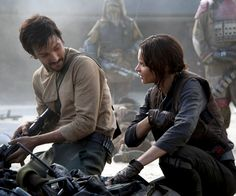 New stills of Diego Luna's Cassian Andor and Felicity Jones' Jyn Erso from Rogue One