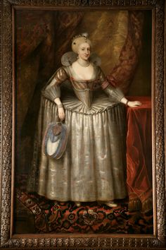 Portrait of Anne of Denmark, Queen of England (1574-1619). By an artist after Paul van Somer. The Royal Collection.