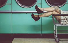 Photo by Cora Edwards... love the style. big fan of laundry mat photography