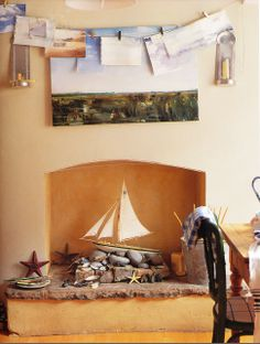 1000 images about can 39 t use your fireplace get creative - Non working fireplace decor ...