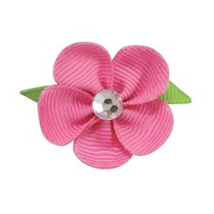 Just what every little girl needs...a pretty Flower Bow for her hair! These bright and cheery bows look absolutely beautiful on any medium to long-haired dog. The alligator claw-style clip makes appli