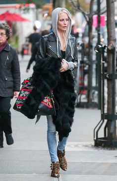 Poppy Delevingne in Jeans out in New York City