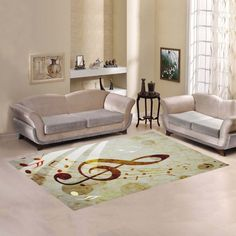 D-Story Sweet Home Art Floor Decor Music Note Area Rug Carpet Floor Rug 7'x5' For Living Room Bedroom -- Click on the image for additional details. (This is an affiliate link) #AreaRugsRunnersandPads