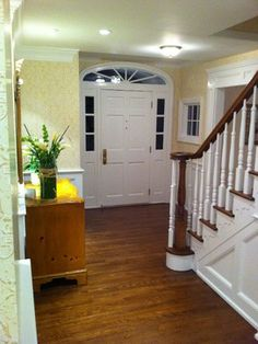 Entry Foyer. Living & Dining rooms reconfiguration - traditional - entry - new york - Zohochris Creations LLC Chestnut