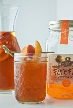 Boozy Sweet Tea (with peach moonshine) | DessertForTwo.com
