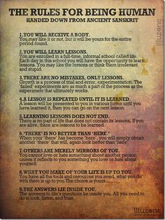 #Life #Quotes - The 9 Rules of Being Human - http://www.selfhelphealing.co.uk