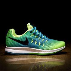 c8834a683e077 Nike Zoom Pegasus 33 GS Volt Chlorine Blue ATAF · Nike Zoom PegasusNike FreeRunning  ShoesSneakers ...