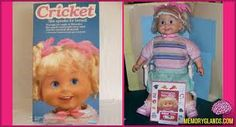Remember when I got a Cricket doll for Christmas and I instantly became cooler than most other people? 1980s Childhood, My Childhood Memories, Chucky Movies, 1980s Toys, Movies Coming Out, Dolls For Sale, The Good Old Days, Cricket, Baby Kids
